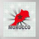 Mapa 2,0 de la bandera de Marruecos Impresiones