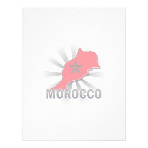 Mapa 2,0 de la bandera de Marruecos Membrete A Diseño