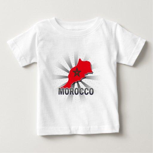 Mapa 2,0 de la bandera de Marruecos Playera