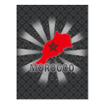 Mapa 2,0 de la bandera de Marruecos Postales
