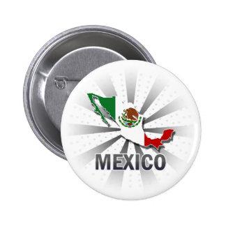 Mapa 2 0 de la bandera de México Pin