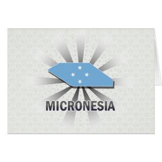 Mapa 2,0 de la bandera de Micronesia Tarjeta De Felicitación