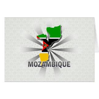 Mapa 2,0 de la bandera de Mozambique Tarjetón