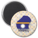 Mapa 2,0 de la bandera de Nauru Imán Para Frigorifico