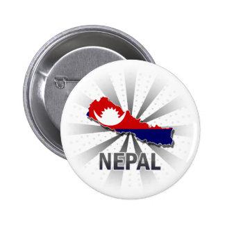 Mapa 2,0 de la bandera de Nepal Pin