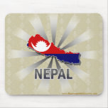 Mapa 2,0 de la bandera de Nepal Tapetes De Ratón