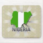 Mapa 2,0 de la bandera de Nigeria Alfombrilla De Raton