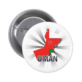 Mapa 2,0 de la bandera de Omán Pin