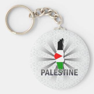 Mapa 2,0 de la bandera de Palestina Llavero Redondo Tipo Pin