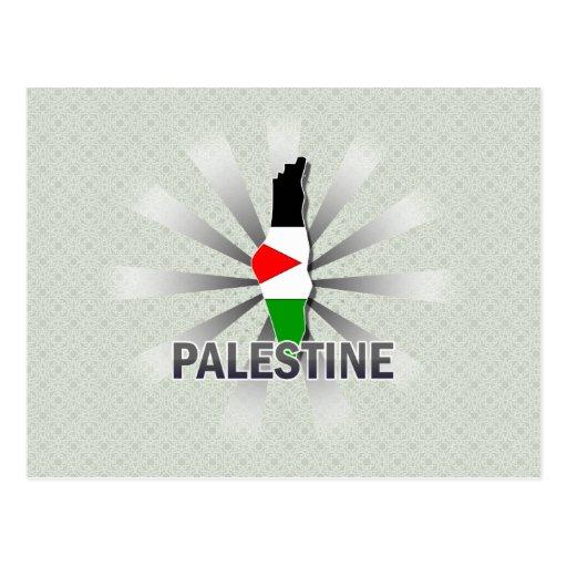 Mapa 2,0 de la bandera de Palestina Tarjeta Postal