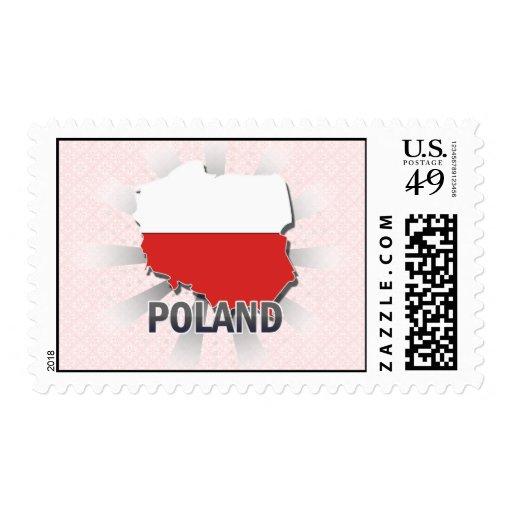 Mapa 2,0 de la bandera de Polonia