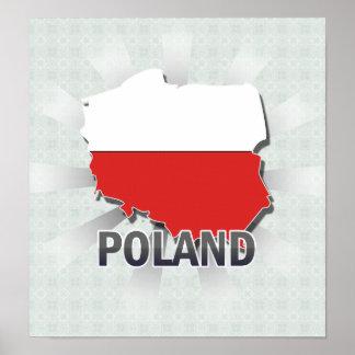 Mapa 2,0 de la bandera de Polonia Impresiones