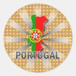 Mapa 2,0 de la bandera de Portugal Pegatina