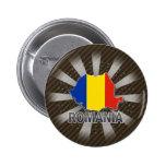 Mapa 2,0 de la bandera de Rumania Pins