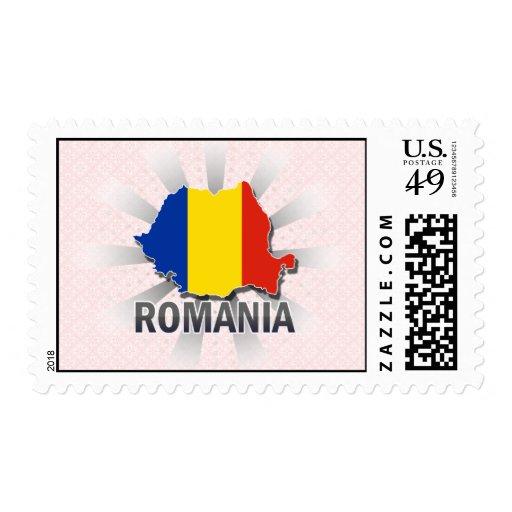 Mapa 2,0 de la bandera de Rumania Sellos