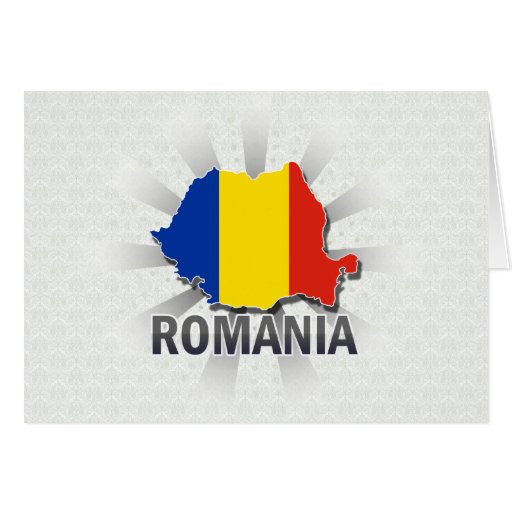 Mapa 2,0 de la bandera de Rumania Tarjeta