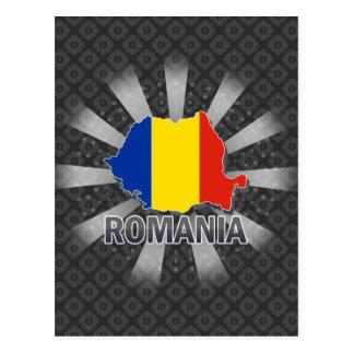 Mapa 2,0 de la bandera de Rumania Tarjeta Postal