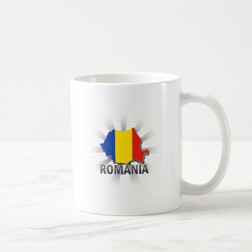 Mapa 2,0 de la bandera de Rumania Taza De Café