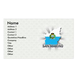 Mapa 2,0 de la bandera de San Marino Tarjetas De Visita