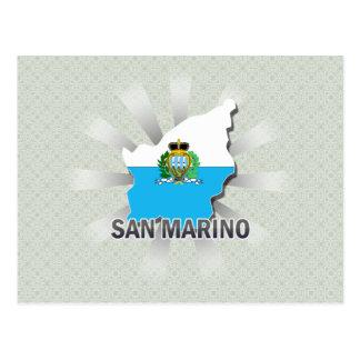 Mapa 2,0 de la bandera de San Marino Postal