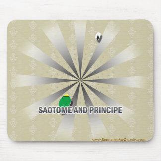 Mapa 2,0 de la bandera de Sao Tome and Principe Alfombrillas De Ratón