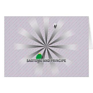 Mapa 2,0 de la bandera de Sao Tome and Principe Tarjeta De Felicitación