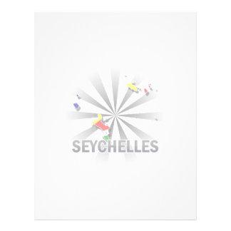 Mapa 2,0 de la bandera de Seychelles Membrete