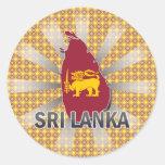 Mapa 2,0 de la bandera de Sri Lanka Pegatina Redonda