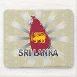 Mapa 2,0 de la bandera de Sri Lanka Alfombrillas De Ratón