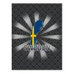 Mapa 2,0 de la bandera de Suecia Tarjeta Postal