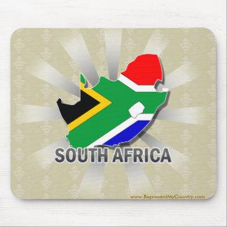 Mapa 2 0 de la bandera de Suráfrica Alfombrillas De Ratón