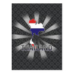 Mapa 2,0 de la bandera de Tailandia Postales