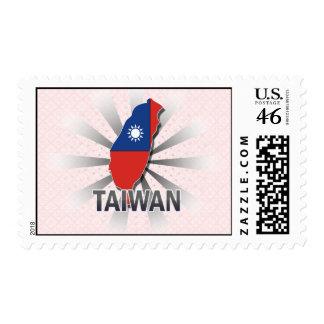 Mapa 2 0 de la bandera de Taiwán