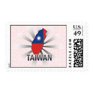 Mapa 2,0 de la bandera de Taiwán Franqueo