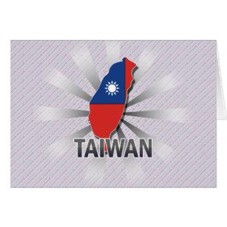 Mapa 2,0 de la bandera de Taiwán Felicitación