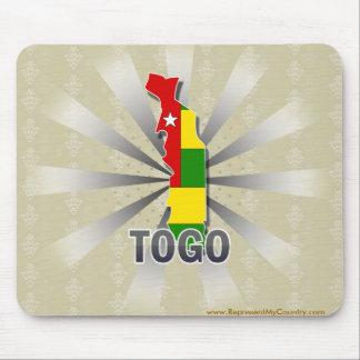 Mapa 2,0 de la bandera de Togo Mousepads