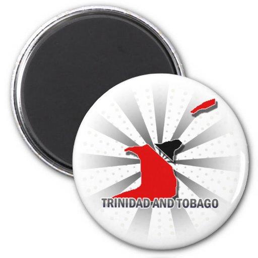 Mapa 2,0 de la bandera de Trinidad and Tobago Iman Para Frigorífico