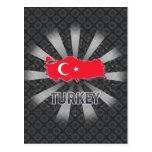 Mapa 2,0 de la bandera de Turquía Postal