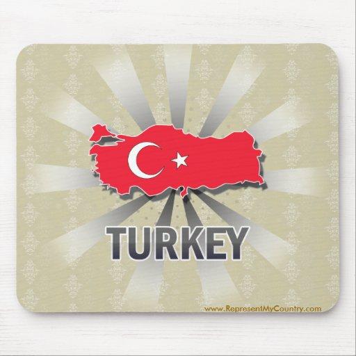 Mapa 2,0 de la bandera de Turquía Alfombrillas De Raton