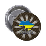 Mapa 2,0 de la bandera de Ucrania Pin