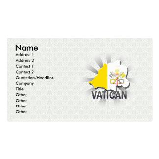 Mapa 2,0 de la bandera de Vatican Tarjetas De Visita