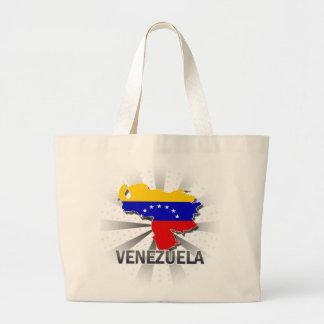 Mapa 2,0 de la bandera de Venezuela Bolsa Tela Grande