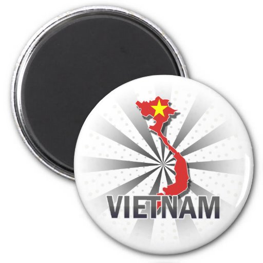 Mapa 2,0 de la bandera de Vietnam Imán Para Frigorífico