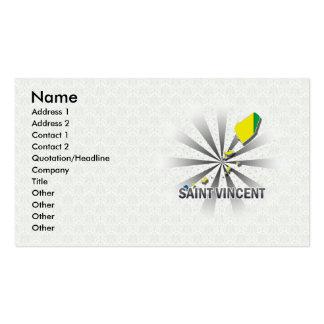 Mapa 2,0 de la bandera de Vincent de santo Tarjetas De Visita