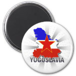 Mapa 2,0 de la bandera de Yugoslavia Imán De Nevera