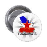 Mapa 2,0 de la bandera de Yugoslavia Pins