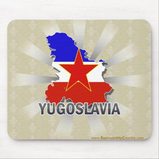 Mapa 2,0 de la bandera de Yugoslavia Tapetes De Raton