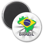 Mapa 2,0 de la bandera del Brasil Iman De Frigorífico