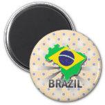 Mapa 2,0 de la bandera del Brasil Iman De Nevera
