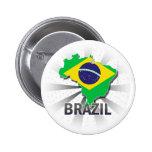 Mapa 2,0 de la bandera del Brasil Pin